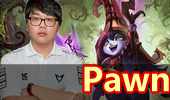 EDG中下双排:Pawn中单完美露露跟Deft女警!