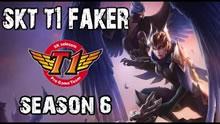 Faker奎因中单第一视角 SKT五黑 vs 龙珠五黑!