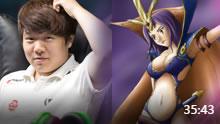 Rookie妖姬vsFaker沙皇 蜗壳被打爆了!