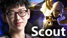 Scout卡萨丁vs卡特:超流畅的连招  玩的不是一个英雄!