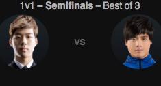 2016全明星赛1v1模式半决赛 Smeb vs Maple