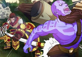《打野英雄》漫画11-12:遭遇妖魔般的猴子