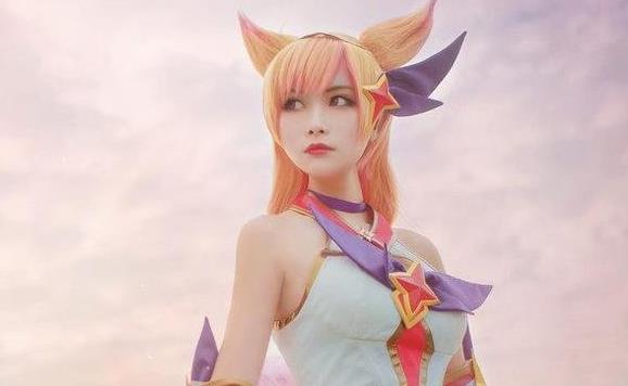 英雄联盟女英雄cosplay 超美小姐姐阿狸COS
