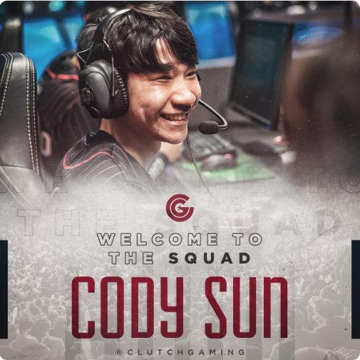 Cody Sun降级青训队 担任CG首发AD位