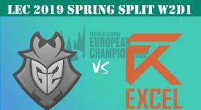 2019LEC春季赛常规赛1月26日比赛回放 G2 VS XL