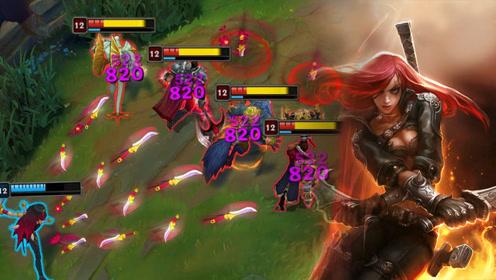 LOL王者级卡特琳娜,一波团战下来,五杀就到手了