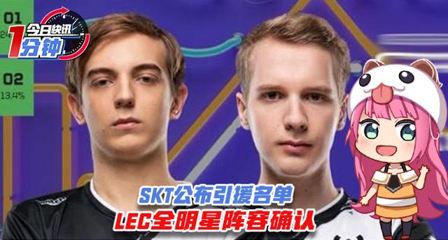 今日快讯:SKT公布引援名单,LEC全明星阵容确认!