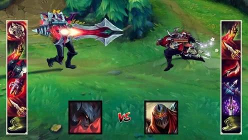 LOL剑魔vs劫,我大火影劫的伤害跟不上剑魔吸血的速度?