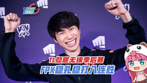 今日快讯:TL彻底无缘季后赛,FPX稳扎稳打八连胜!