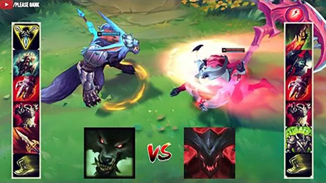 LOL:神装狼人vs神装凯隐,哪个英雄更强?