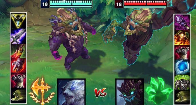 神装狗熊VS神装茂凯,哪个英雄更强?