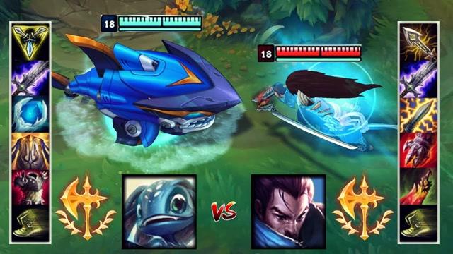 满级肉装小鱼人VS满级亚索 哪个英雄更强?