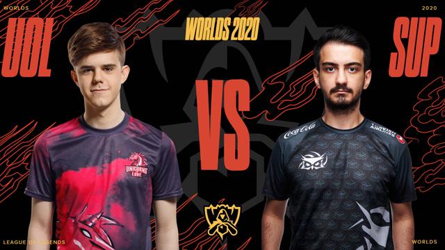 2020全球总决赛入围赛淘汰赛 UOL vs SUP 第一局