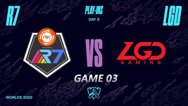 2020全球总决赛入围赛第五日 LGD vs R7 第三局