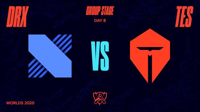 2020全球总决赛小组赛第八日 DRX vs TES