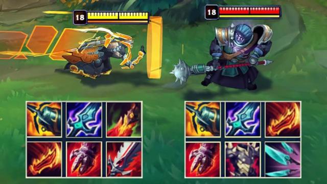 季前赛神装贾克斯VS神装剑圣 哪个英雄更强?