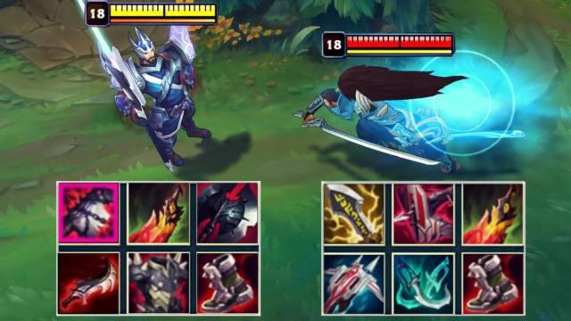 神装皇子VS神装亚索 哪个英雄更强?