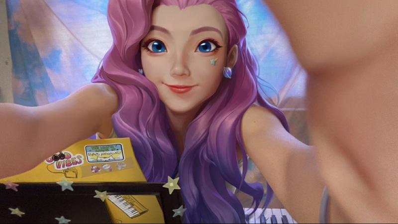 lol紫发美丽女孩Seraphine英雄联盟壁纸