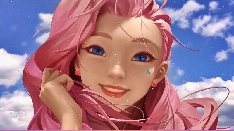 lol粉色头发美丽女孩Seraphine英雄联盟壁纸