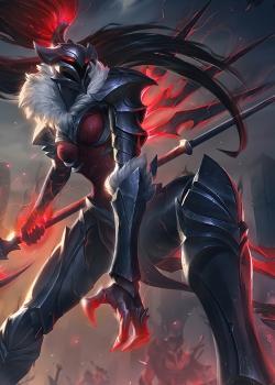 英雄联盟卡莉斯塔黑暗骑士皮肤图片
